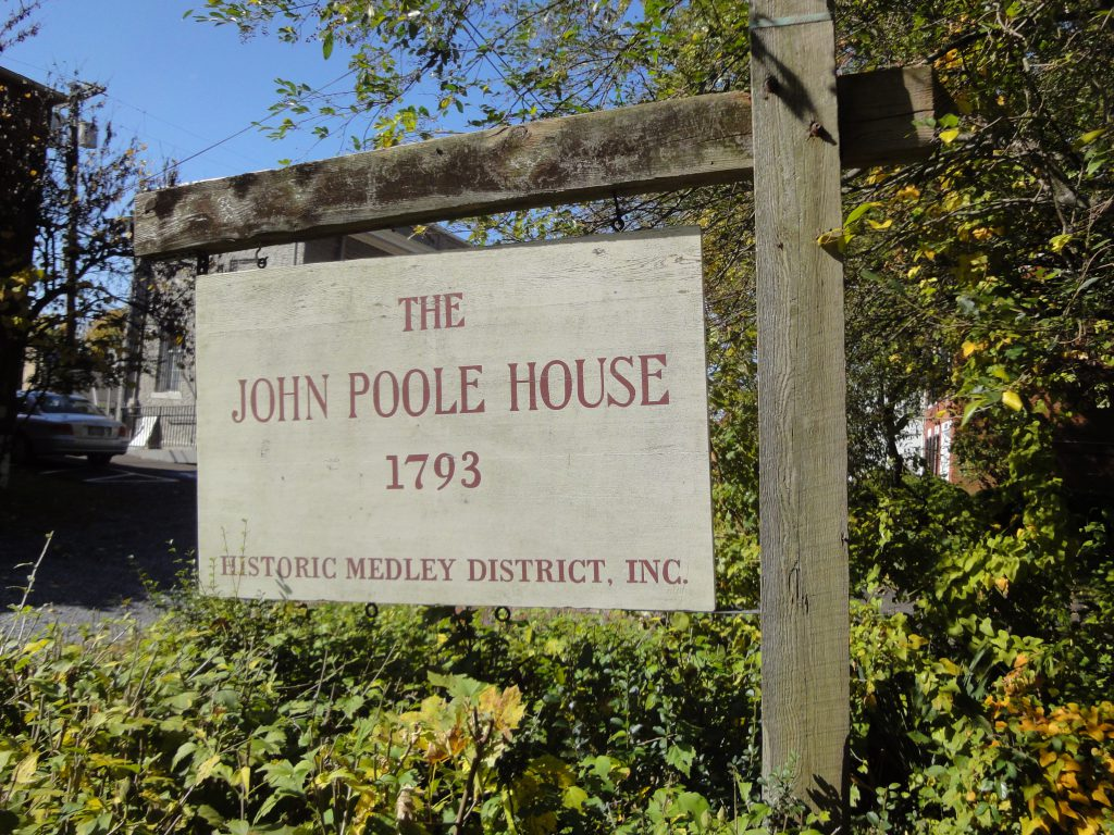 John Poole House sign